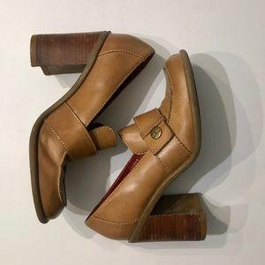 TOMMY HILFIGER VINTAGE Chunky Heel Loafer 7M 90s